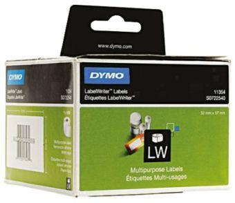 Originálné etikety DYMO 11354 (S0722540), 57mm x 32mm, čierna tlač na bielom podklade, 1000ks
