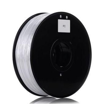 Tlačová struna PC pre 3D tlačiarne, 1,75mm, 1kg, priehľadná