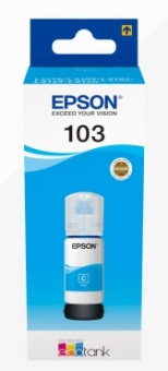 Originálna fľaša Epson 103 C (C13T00S24A) (Azúrová)