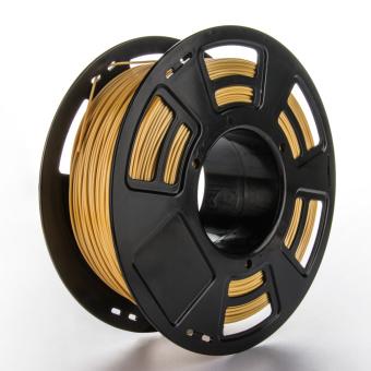 Tlačová struna PLA+ pre 3D tlačiarne, 1,75mm, 1kg, zlatá