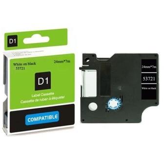 Kompatibilná páska DYMO 53721 (S0721010), 24mm, biela tlač na čiernom podklade