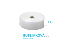 Bublinková fólia - 20cm x 100m - šírka x návin