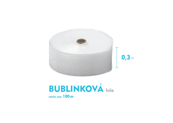 Bublinková fólia - 30cm x 100m - šírka x návin