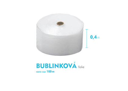 Bublinková fólia - 40cm x 100m - šírka x návin