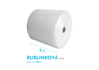 Bublinková fólia - 70cm x 100m - šírka x návin