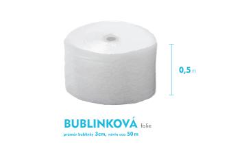 Bublinková fólia 3cm - 50cm x 50m - šírka x návin
