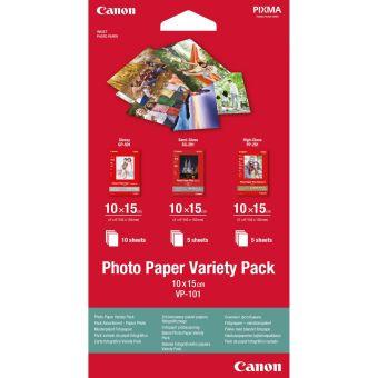 Fotopapier 10x15cm Canon Variety Pack, 20 listov, lesklý, bielý, inkoustový (VP-101)