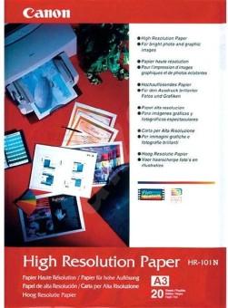 Fotopapier A3 Canon High Resolution, 20 listů, 106 g/m2, speciálně vyhlazený, biely, inkoustový (HR-101)