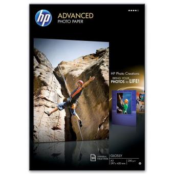 Fotopapier A3 HP Advanced Glossy, 20 listov, 250 g/m2, lesklý (Q8697A)