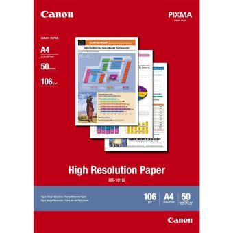 Fotopapier A4 Canon High Resolution, 50 listov, 106 g/m2, bielý, inkoustový (HR-101N)