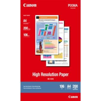 Fotopapier A4 Canon High Resolution, 200 listov, 106 g/m2, špeciálne vyhladený, biely, inkoustový (HR-101)