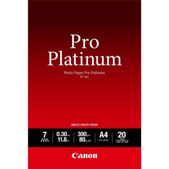 Fotopapier A4 Canon Pro Platinum, 20 listov, 300 g/m2, lesklý, bielý, inkoustový (PT-101)