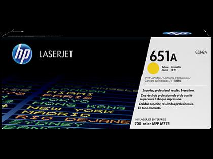 Originálny toner HP 651A, HP CE342A (Žltý)
