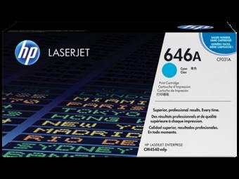 Originálny toner HP 646A, HP CF031A (Azúrový)