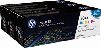 Originálne tonery HP 304A, HP CF372AM (Farebné) multipack
