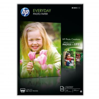 Fotopapier A4 HP Everyday Glossy, 100 listov, 200 g/m2, lesklý (Q2510A)