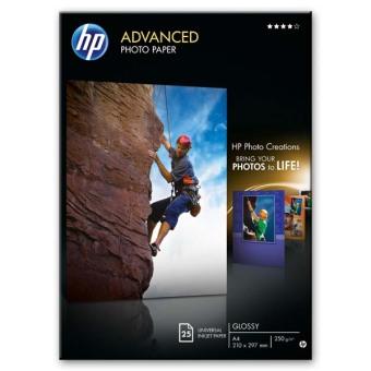 Fotopapier A4 HP Advanced Glossy, 25 listov, 250 g/m2, lesklý (Q5456A)