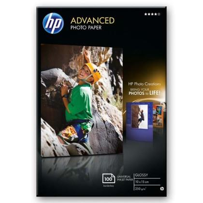 Fotopapier 10x15cm HP Advanced Glossy, 100 listov, 250 g/m2, lesklý (Q8692A)