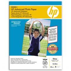 Fotopapier 13x18cm HP Advanced Glossy, 25 listov, 250 g/m2, lesklý (Q8696A)