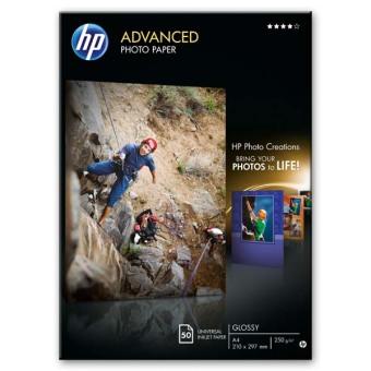 Fotopapier A4 HP Advanced Glossy, 50 listov, 250 g/m2, lesklý (Q8698A)