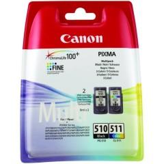 Cartridge do tiskárny Originálna sada cartridge Canon PG-510/CL-511 (Čierna, farevná)