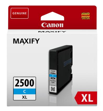 Originálna cartridge Canon PGI-2500C XL (Azúrová)