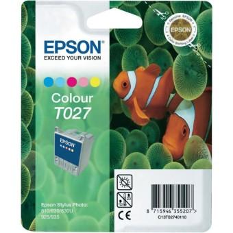 Originálna cartridge  EPSON T027 (Farebná)