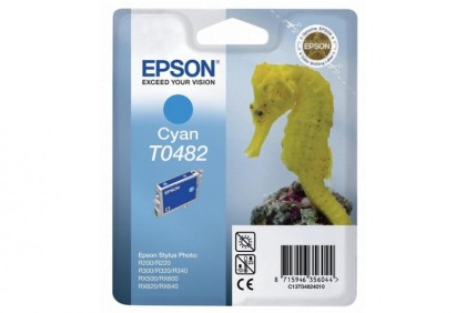 Originálna cartridge  EPSON T0482 (Azúrová)