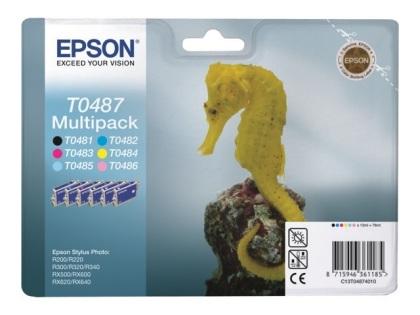 Sada originálných cartridge EPSON T0487 - obsahuje T0481-T0486
