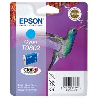 Originálna cartridge  EPSON T0802 (Azúrová)