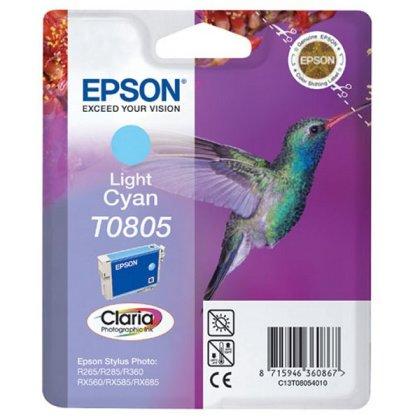 Originálna cartridge  EPSON T0805 (Svetlo azúrová)