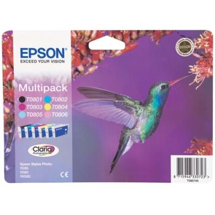 Sada originálných cartridge EPSON T0807 - obsahuje T0801-T0806