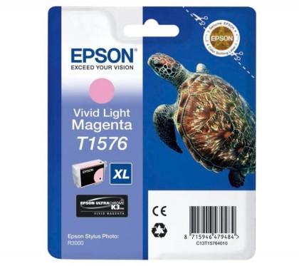 Originálna cartridge  EPSON T1576 (Naživo svetlo purpurová)