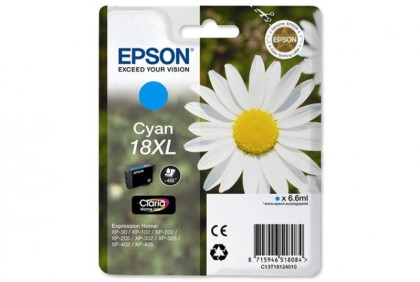 Originálna cartridge EPSON T1812 (Azúrová)