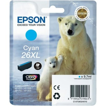 Originálna cartridge EPSON T2632 (Azúrová)