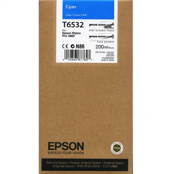 Originálna cartridge Epson T6532 (Azúrová)