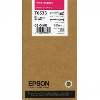 Originálna cartridge Epson T6533 (Naživo purpurová)