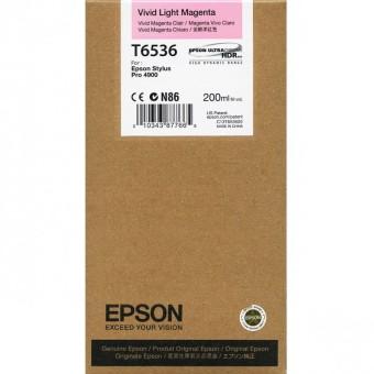 Originálna cartridge Epson T6536 (Naživo svetlo purpurová)