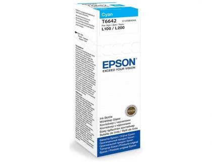 Originálna fľaša Epson T6642 (Azúrová)