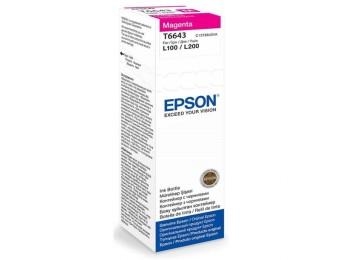 Originálna fľaša Epson T6643 (Purpurová)