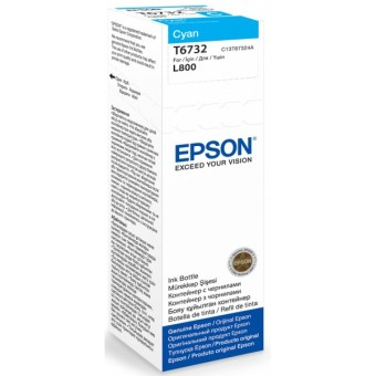 Originálna fľaša Epson T6732 (Azúrová)