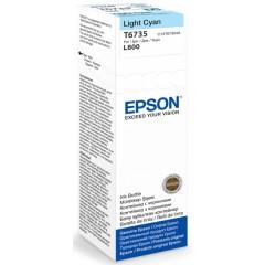 Cartridge do tiskárny Originálna fľaša Epson T6735 (Foto azúrová)