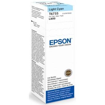 Originálna fľaša Epson T6735 (Foto azúrová)