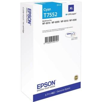Originálna cartridge Epson T7552 (Azúrová)