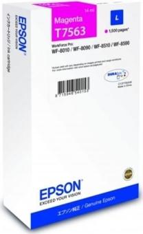 Originálna cartridge Epson T7563 (Purpurová)