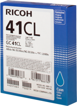 Originálna cartridge Ricoh 405766 (Azúrová)