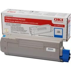Toner do tiskárny Originálny toner OKI 43865723 (Azúrový)