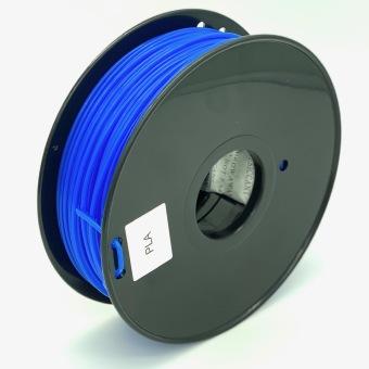 Tlačová struna PLA pre 3D tlačiarne, 3mm, 1kg, priehľadne modrá
