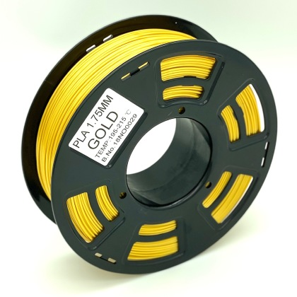 Tisková struna PLA pro 3D tiskárny, 1,75mm, 1kg, zlatá