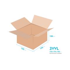 Kartónová krabica 3VVL - 150x150x100mm - vnútorné 145x145x80mm